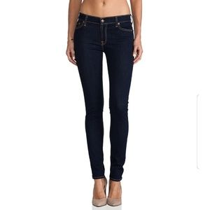 7 For All Mankind The Skinny Distressed Jeans